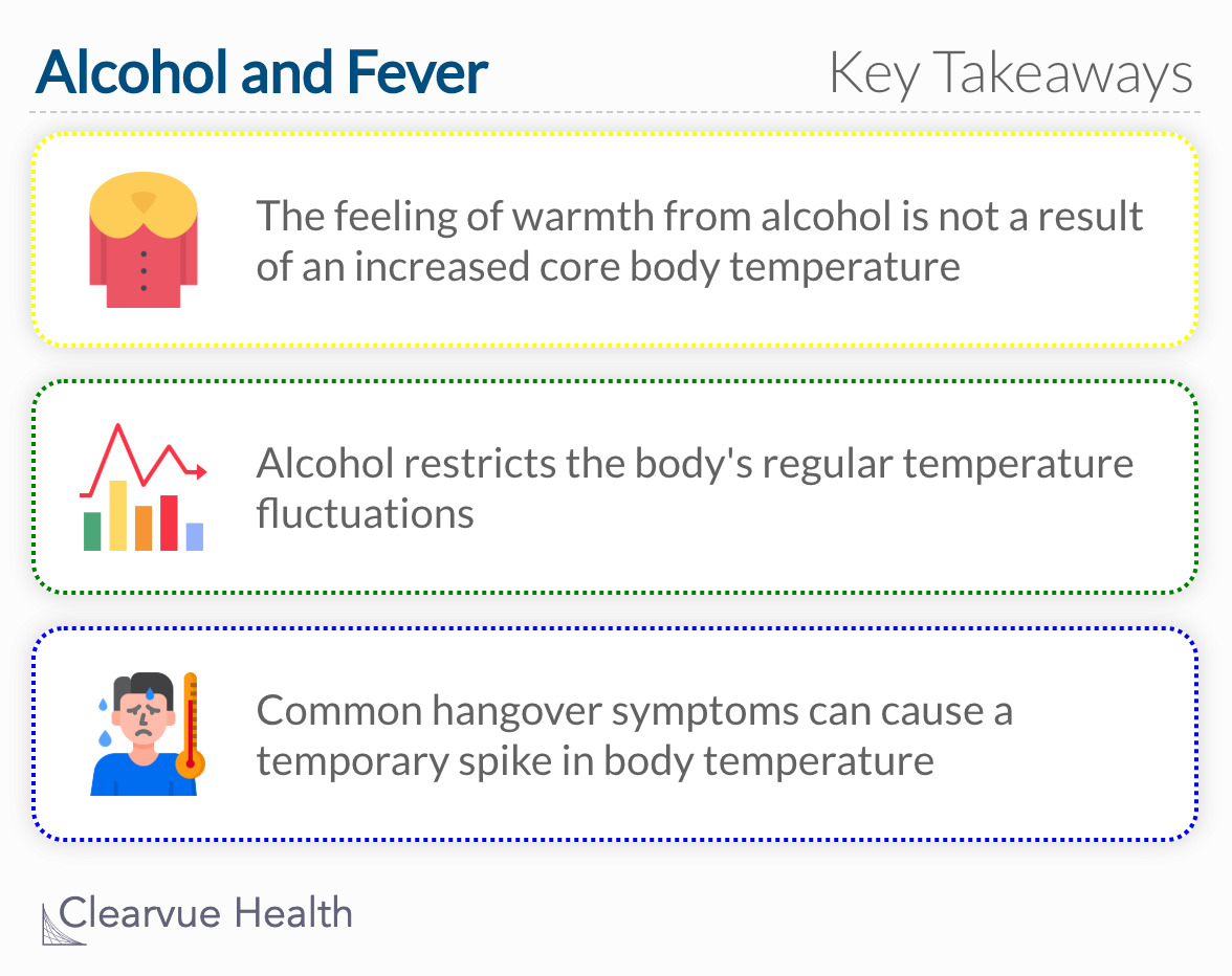 key takeaways about alcohol and fever
