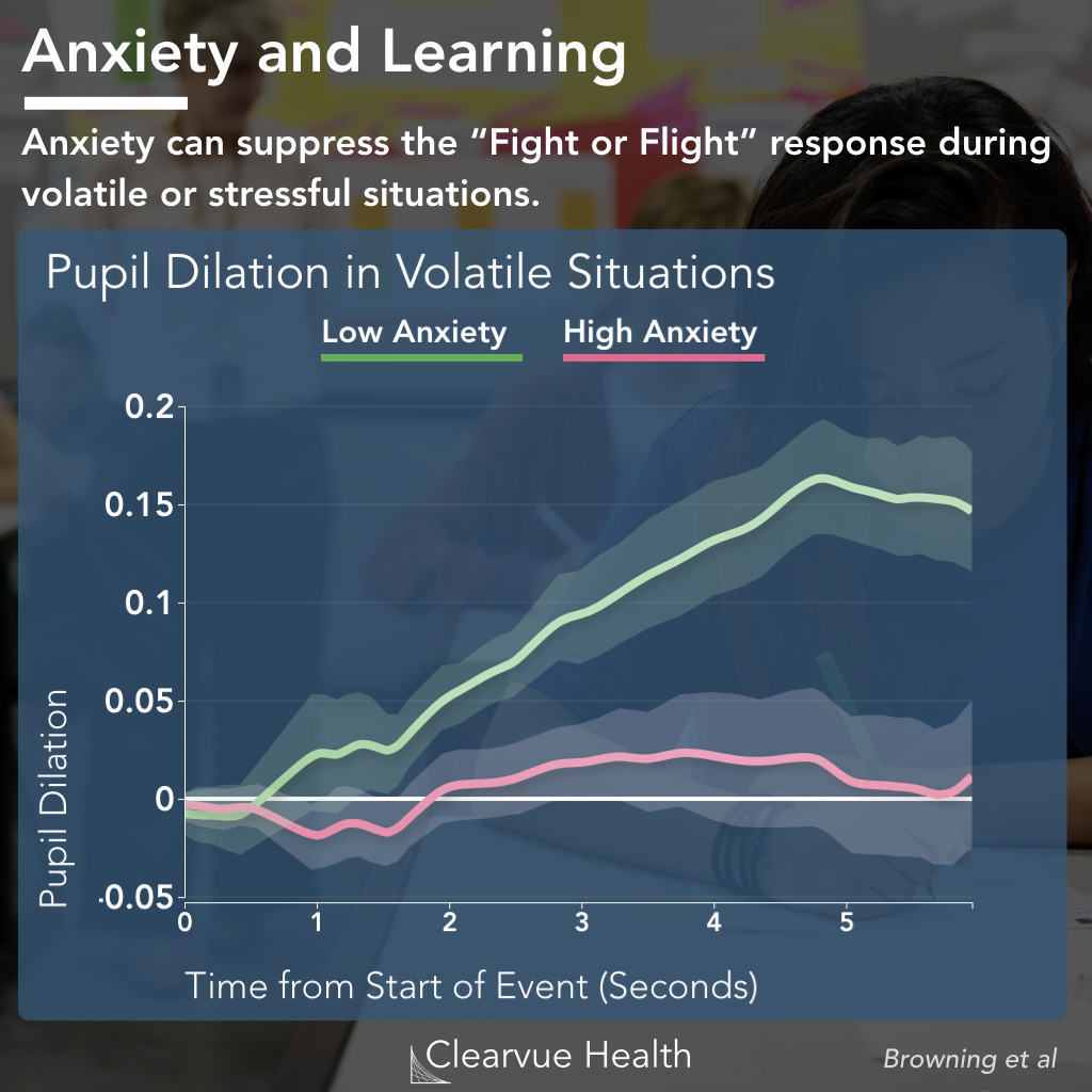 Learning Rate and Volatility with Anxiety
