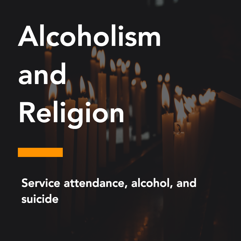 Service attendance, alcohol, and suicide