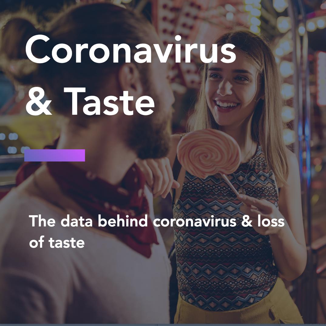 The data behind coronavirus & loss of taste