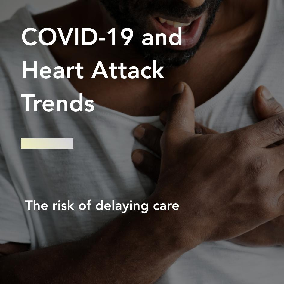 covid-19 and heart attack trends title