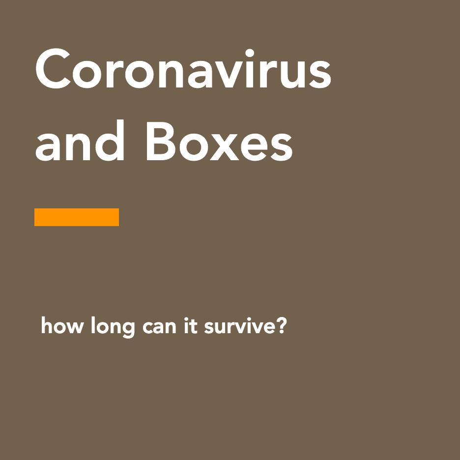 Coronavirus and boxes