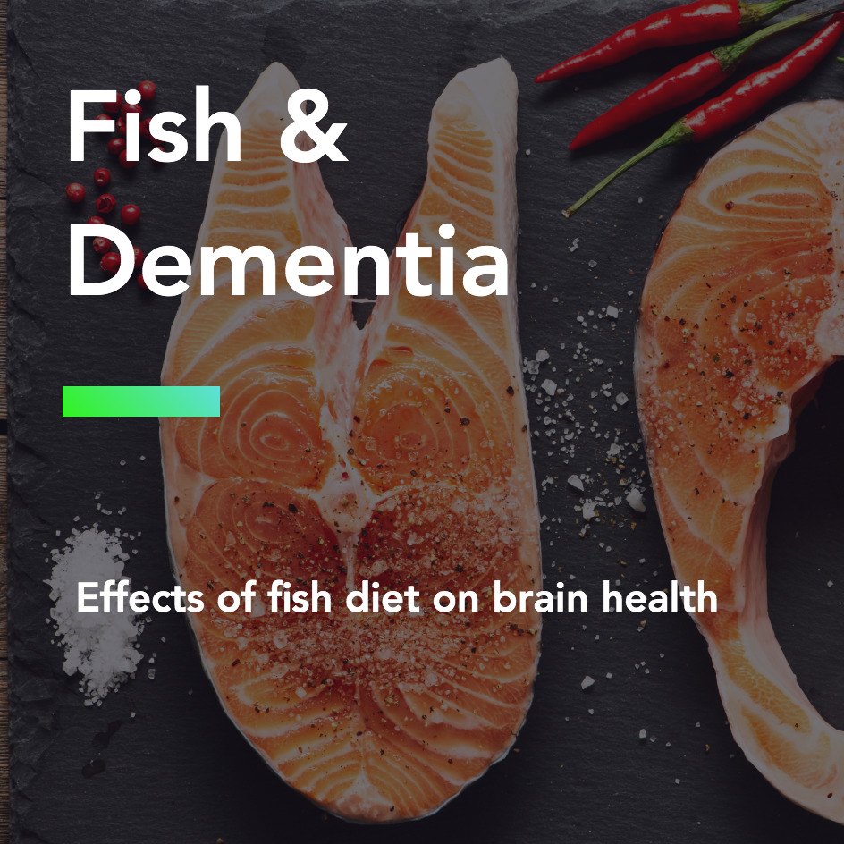 Fish & Dementia:  Effects of fish diet on brain health