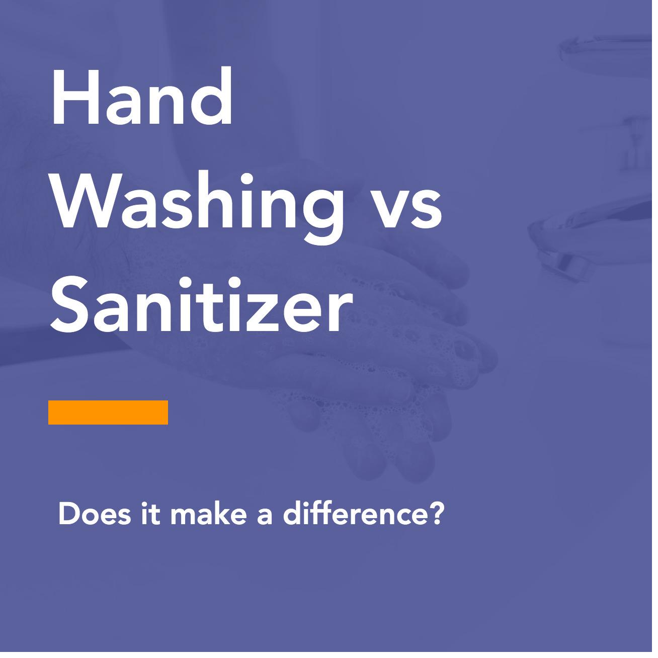 Hand Washing vs Sanitizer