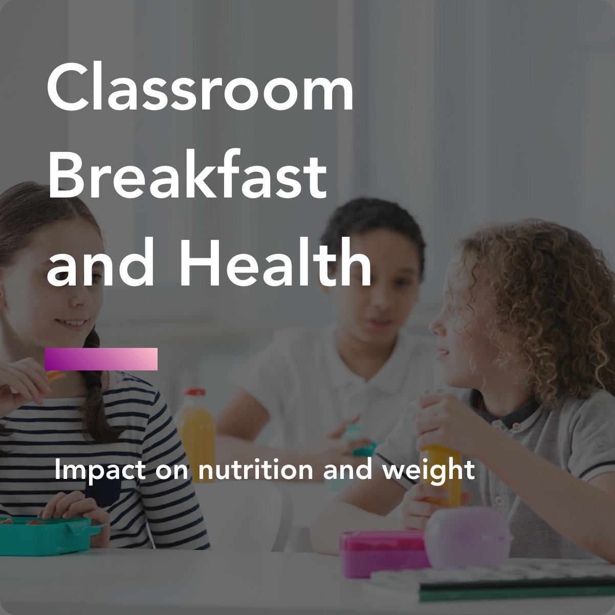 Classroom breakfast and health title
