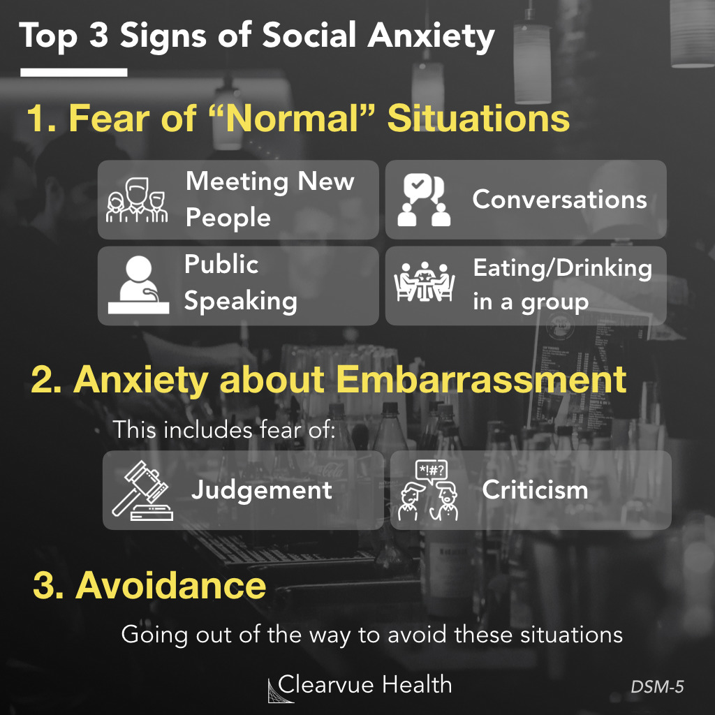 Top 3 Signs of Social Anxiety