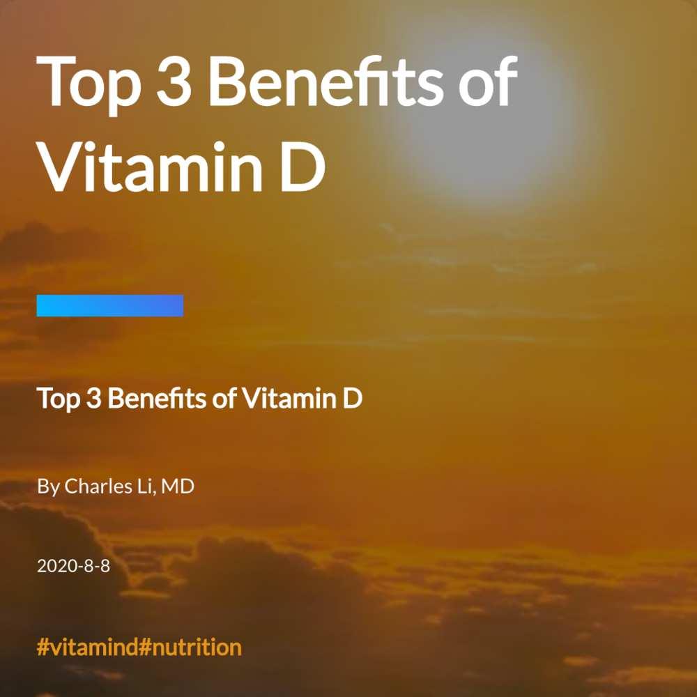 Top 3 Benefits of Vitamin D