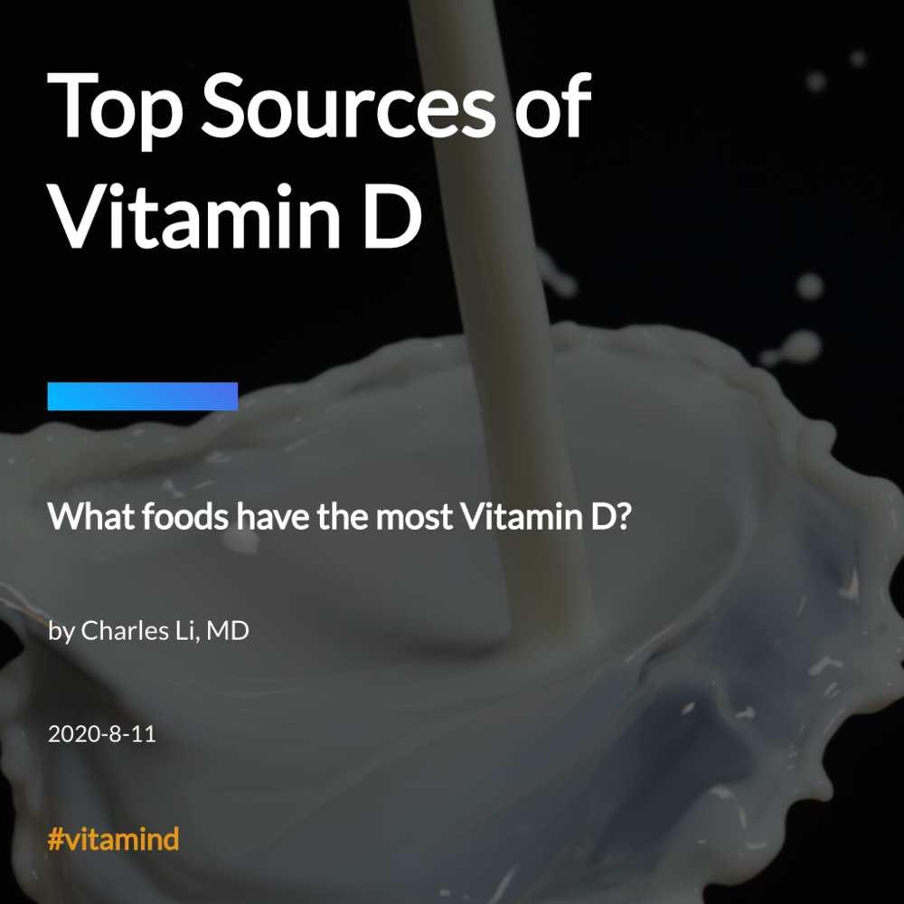 Top Sources of Vitamin D