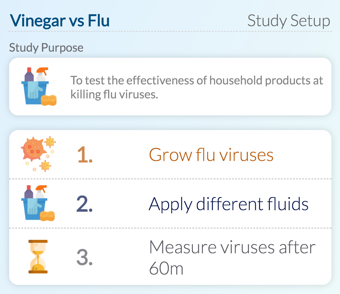Vinegar and flu virus study
