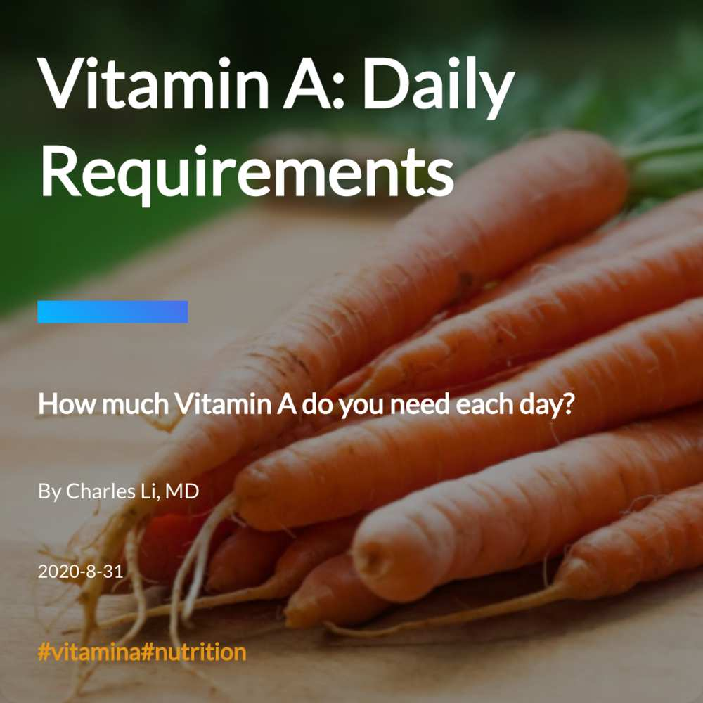 Vitamin A: Daily Requirements