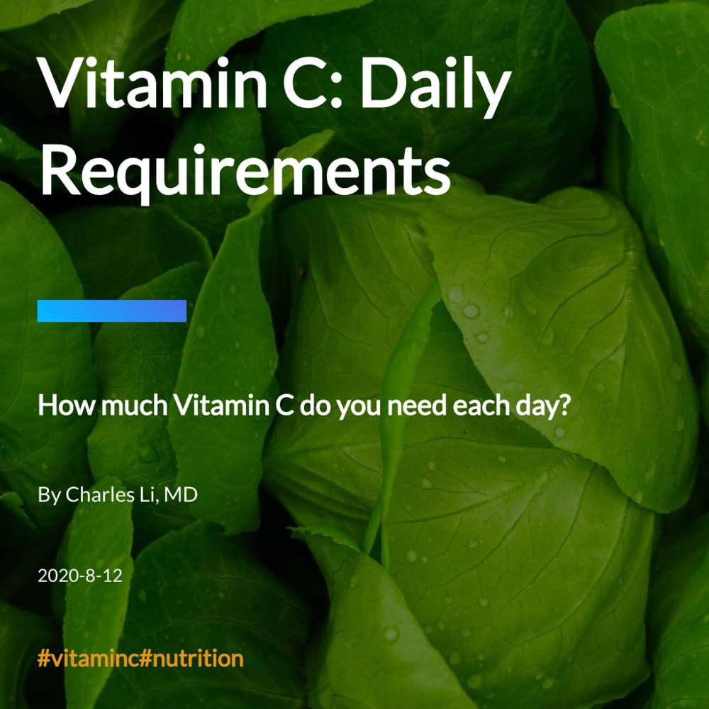Vitamin C: Daily Requirements